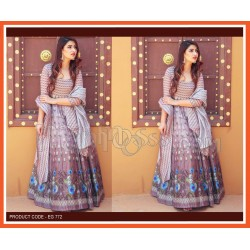 A PRINTED ANARKALI GOWN