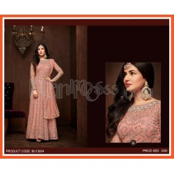 Embroidered Net Party Wear Anarkali Suit