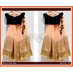 Georgette Lehenga With Heavy Sequence Work