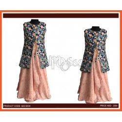 Girls Ethnic Gown With Jacket