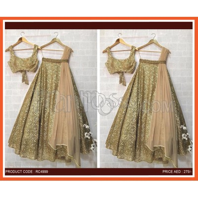 Lehengas Zari Embroidery And Sequins