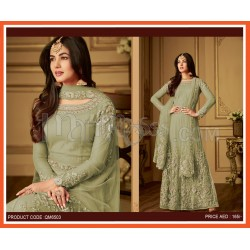 Designer Suits Net With Embroidery