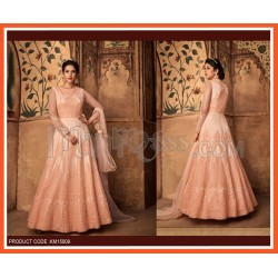 Net Embroidered Anarkali Suits