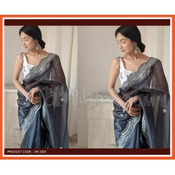 A PURE ORGANZA SILK SAREE