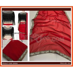Red Fancy Saree With Blouse