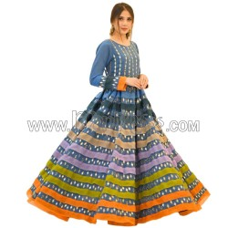 A EMBROIDERED ANARKALI GOWN