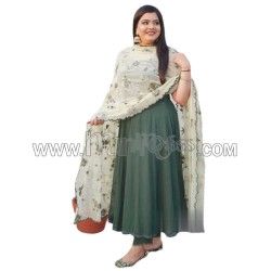 A  SILK WITH EMBROIDERY WORK LESS  ANARKALI