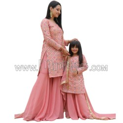 A MOM AND DAUGHTER SALWAR WITH PALAZZO COMBO