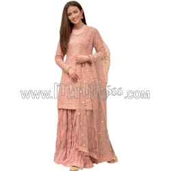 A  FOX GEORGETTE WITH EMBROIDERY WORK SUIT
