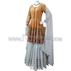 A GEORGETTE WITH HEAVY EMBROIDERY WORK  TOP WITH PALAZZO