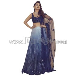 A GEOREGTTE WITH HEAVY WORK SEQUENCES WORK LEHENGA