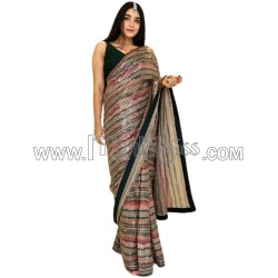 A Heavy Full Embroidery  Sequence Work  Saree
