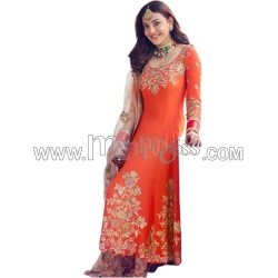 A EMBROIDERY WORK WITH DAYMOND HAND WORK  ANARKALI