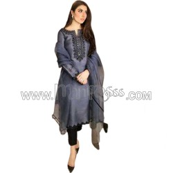A Embroidery With Real Mirror Work Salwar