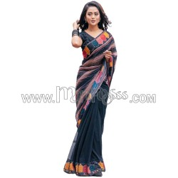 A Digital with Beautiful Sequence Work Saree