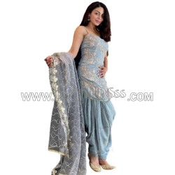 A EMBROIDERED DHOTI - SUIT