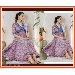 A PRINTED ANARKALI STYLE GOWN