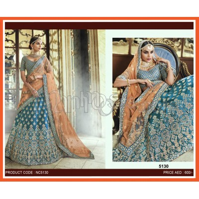 Wedding Lehenga With Orange Dupatta