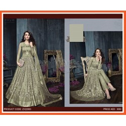 Bridal Net With Heavy Embroidery Anarkali Suits